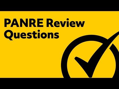 PANRE Review Questions