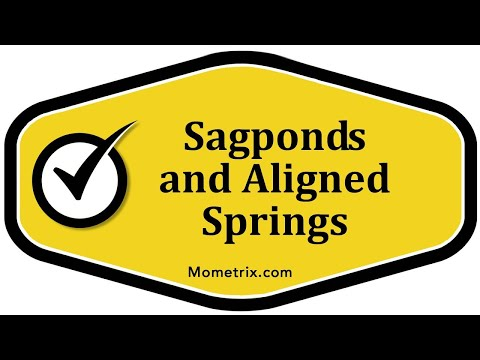 Sag Ponds and Aligned Springs