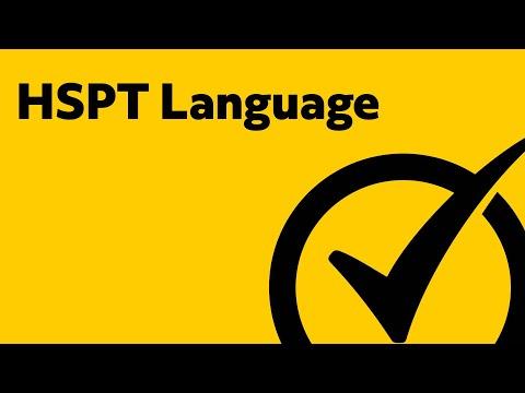 HSPT Test Prep Language Study Guide