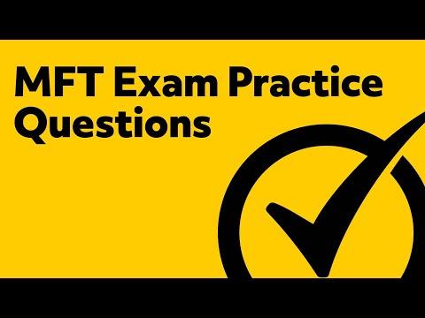MFT Exam Practice Questions