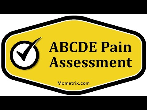 ABCDE Pain Assessment