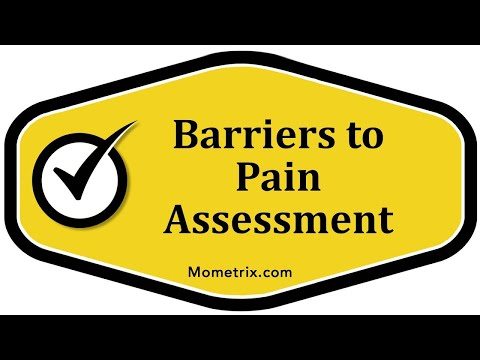 Barriers to Pain Assessment