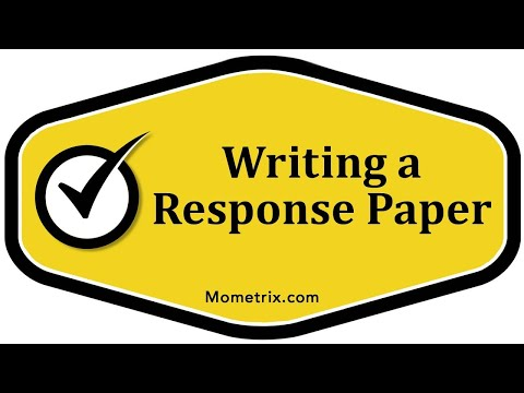 Writing a Response Paper