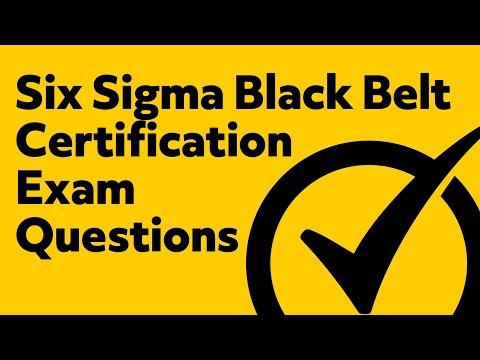 Six Sigma Black Belt Certification (Exam Questions)