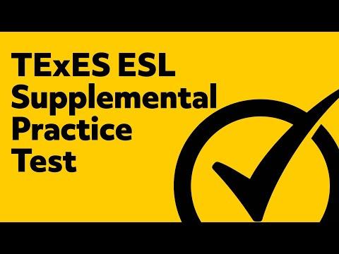 TExES ESL Supplemental Practice Test