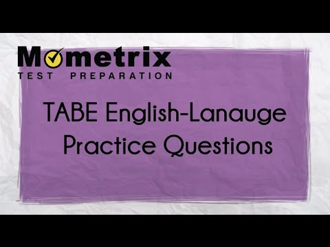 Best TABE English Test Practice Questions!