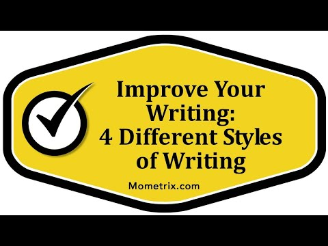 Improve Your Writing - 4 Different Styles of Writing