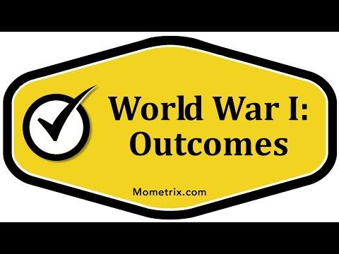 World War I: Outcomes