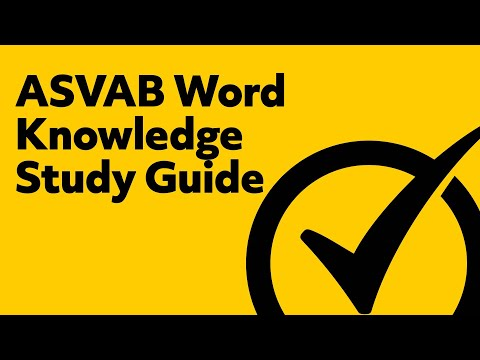 ASVAB Word Knowledge Study Guide (2018)