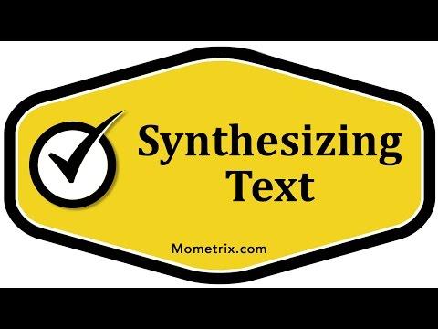 Synthesizing Text