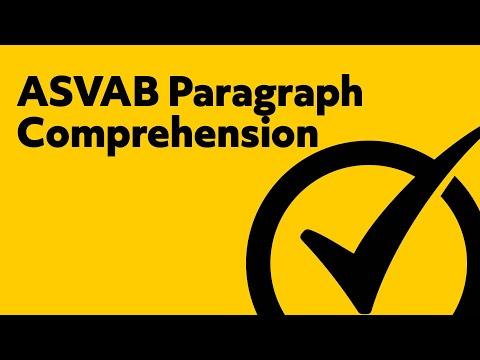 ASVAB Paragraph Comprehension Study Guide
