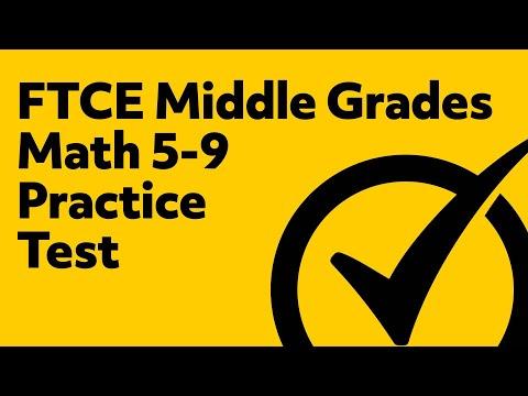 FTCE Middle Grades Math 5-9 Practice Test