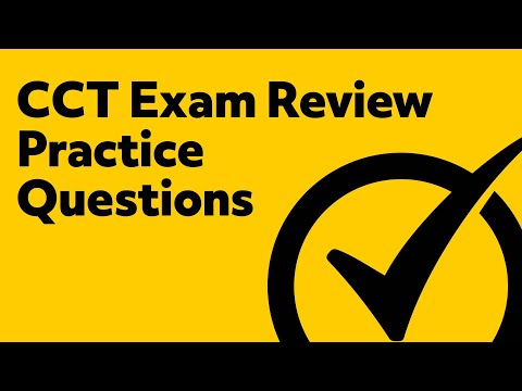 CCT Exam Review *FREE Practice Questions*