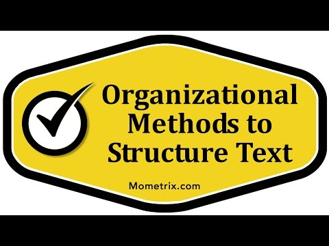 Organizational Methods to Structure Text