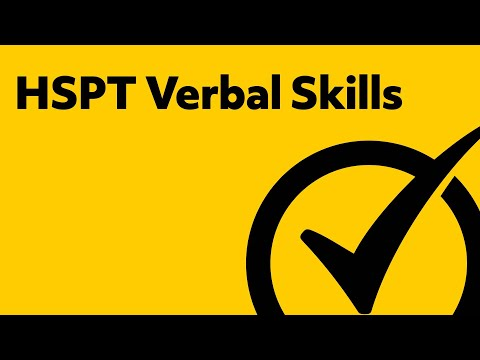HSPT Verbal Skills Study Guide