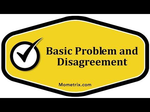 Basic Problem and Disagreement