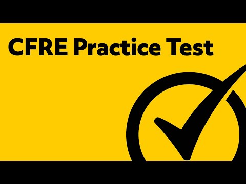 CFRE Test Study Guide (2018)