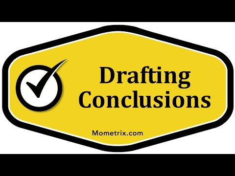 Drafting Conclusions