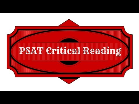 PSAT Critical Reading Study Guide