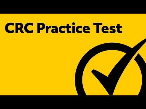 CRC Exam 2018 Practice Test