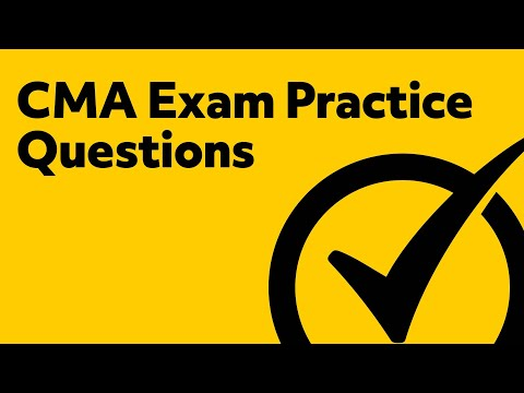 CMA Exam Part 1 Practice Questions