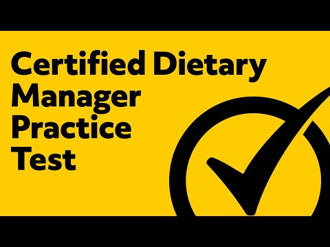 Certified Dietary Manager Practice Test