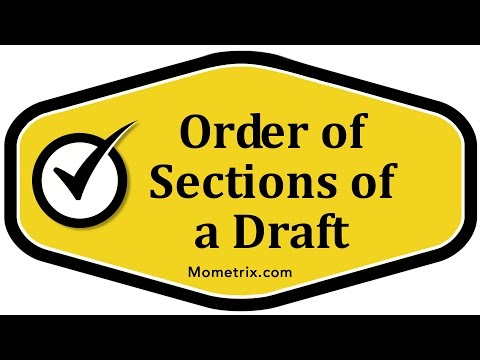 Order of Sections of a Draft
