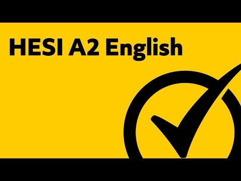 HESI Entrance Exam - English Study Guide