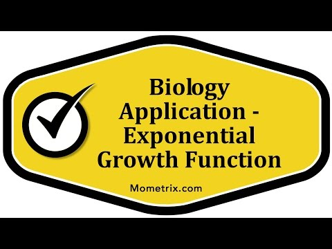 Biology Application - Exponential Growth Function