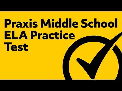 Praxis Middle School Language Arts Practice Test