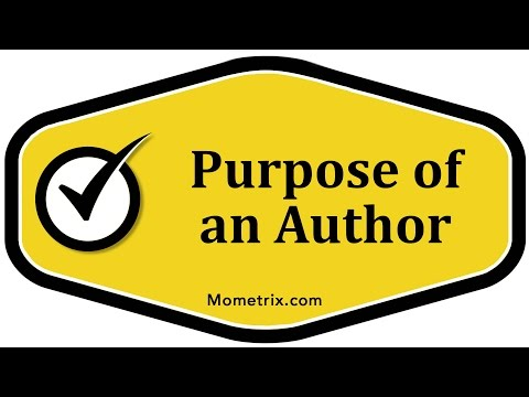 Purpose of an Author