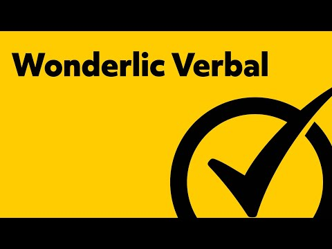 Free Wonderlic Verbal Study Guide
