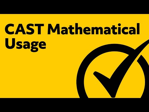 CAST Mathematical Usage Study Guide