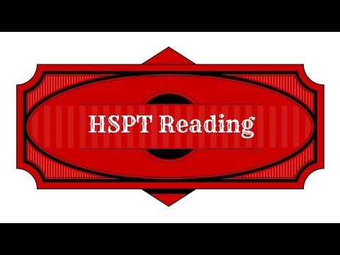 HSPT Reading Comprehension Study Guide