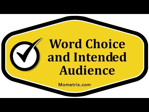 Word Choice and Intended Audience