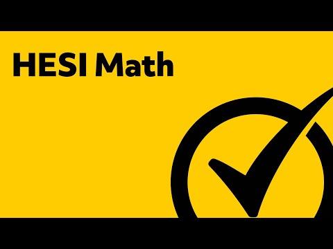 HESI Entrance Exam - HESI A2 Math Study Guide