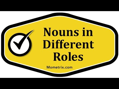 Nouns in Different Roles