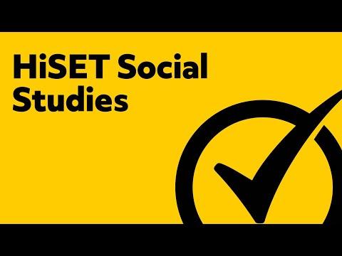 HiSET Test Review - Social Studies Study Guide