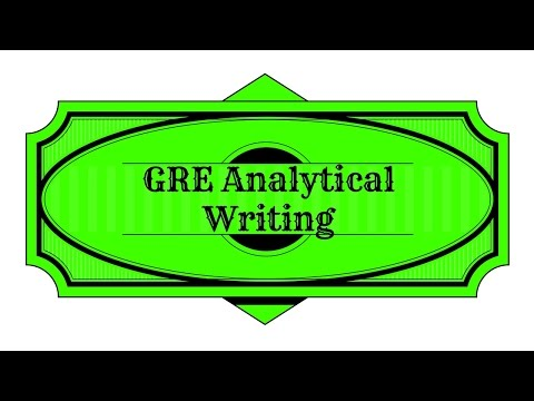 GRE Analytical Writing Study Guide