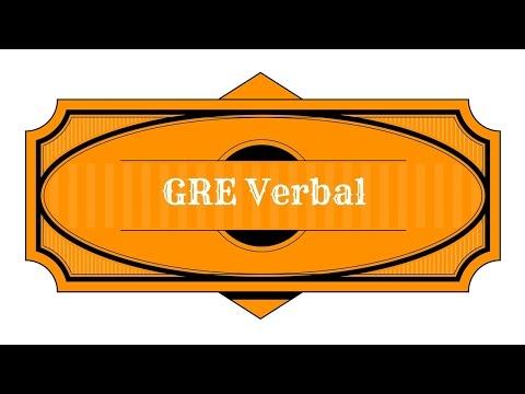 GRE Verbal Reasoning Study Guide