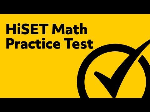 HiSET Exam - Free HiSET Math Practice Test