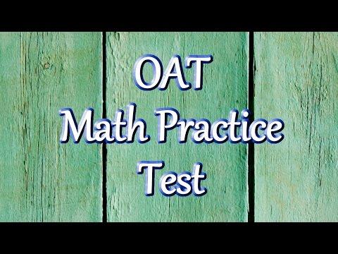 OAT Math Practice Questions