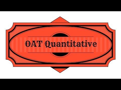 OAT Test Prep - Quantitative Study Guide