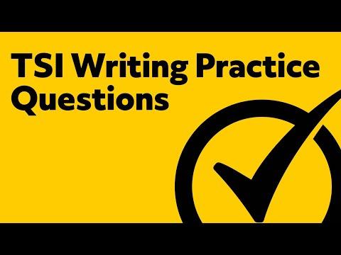 TSI Writing Practice Test