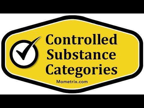 Controlled Substance Categories