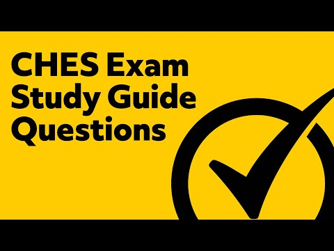 CHES Exam Study Guide Questions