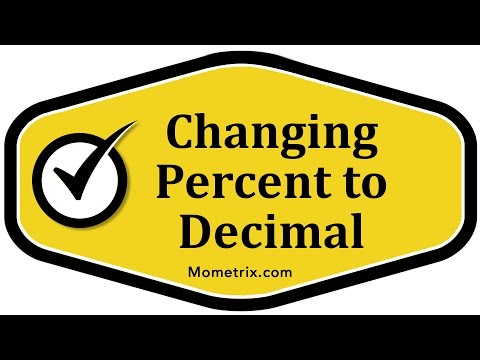 Changing Percent to Decimal