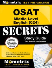 OSAT Middle Level English Study Guide