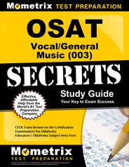 OSAT Vocal/General Music Study Guide