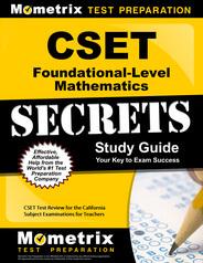 CSET Foundational-Level Mathematics Study Guide